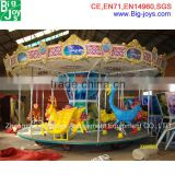 Attracting Animal Design Kiddie Rides Carousel; Cheap Kiddie Carousel Horse Ride, Electric Kiddie Ride On Carousel
