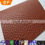Anti mildew, elastic, waterproof, abrasion resistant feature and embossed Pattern pvc synthetic leather