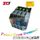 Compatible ink cartridges for Brother LC 133 LC137 BK LC135 suitable for ptiners MFC-J4510DW