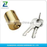 normal computer brass handle night master euro profile tubular key door t-handle round rim high security safe lock cylinder