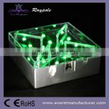 Battery operated 4 inch square wedding table decoration center piece LED base light
