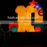 Christmas Decorative Inflatable Figure with Lighting Stars/Inflatable Letters for Christmas Decoration