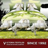 100% microfiber super soft 4 pieces horse pattern printed bed sheets set