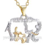 Cartoon animal necklace & alloy electroplating diamond necklace & Europe and the United States the new accessories