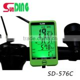Multifunctional wireless green yellow black blue cycle computer auto backlight cycle speedometer