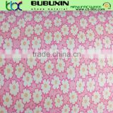 printed small flower poliester fabric lamilate white 1.5mm eva jinjiang manufacturer