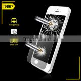 Super Thin Glass film with 0.15mm and 8H for iphone 5s nano liquid screen protector