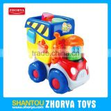 HQ B/O plastic large Toy Vehicle cartoon building blocks dump truck car toys with light & musical for kids