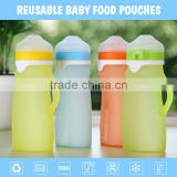 Promotion soft food grade silicone 16oz baby water bottle straw