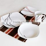 16pcs ceramic dinnerware set, porcelain with decal