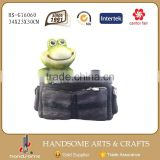 Four Season Garden Statues Frog Pot Bag shape Garden Planter