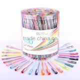 100 non repeative colors rolling ball pen(gel pen)