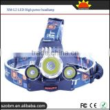 RJ-5000 4 Mode 3*XM-L2 LED 1800Lumens Best Rechargeable High Power LED Headlamp