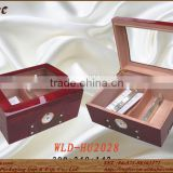 factory price piano paint cigar box with moisture meter and humidifier and lock