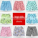 The wholesale children summer cotton beach pants boys and girls shorts pants baby pyjamas home casual shorts