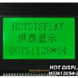 12864 With PCB LCD display mode: STN Y-G, positive, and transflective
