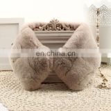 Thick rex rabbit fur collar genuine fur neck warmer custom size color