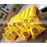 water buoy with triangle and cylinder shape floating inflatable buoys for water lake or marine event promotion