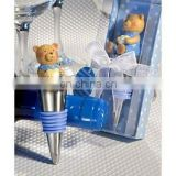 Baby Blue Teddy Bear Design Wine Bottle Stoppers