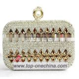 Crystal clucth evening bag matching shoes with stone evening clutch bag for women gold crystal clutch bag