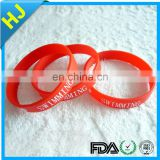 New product two color silicone bracelet made in China