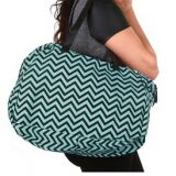 full printed chevron canvas bag with shoulder from China