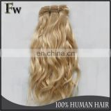 Factory hair wholesale top quality human hair last long hair extensions blonde weft wavy
