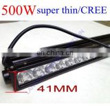 "500w 50"" Cr ee LED Light Bar off road heavy duty, indoor, factory,suv military,agriculture,marine,mining work light"