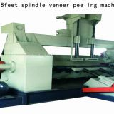CNC 8ft wood veneer spindle rotary peeling machine