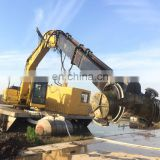 Excavator powerful mixer for sludge solidification