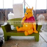 outdoor frp chair plastic chair fiberglass outdoor chair with tedy bear
