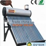 Heat Exchanger Integrated Pressurized solar hot water heater,copper coil solar water heater system