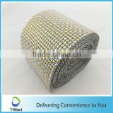 Wrapping Home Decor Poly Mesh Hot Mitsubishi Diamante Style Wrap Crafting Bridal shiny wide mesh ribbon