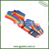 Fashion cheap rainbow luggage strap