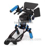 Poplar High quality Dslr rig kit Support Mount Rig+Hand Grip+Follow Focus+Matte Box+C Shape Support +Top Handle For DV