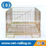 High quality welded foldable pallet storage cage rack for sale