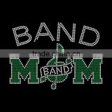 Unique letter Band Mom with Music symbols Rhinestone Transfer