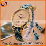 2015 factory direct sale Geneva cotton knit band lady watch                                                                         Quality Choice