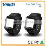 BLACK A8 Bluetooth Smart Watch Phone + Camera SIM Card For Android IOS Phones