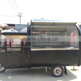 SILANG Electric Motorized food truck mobile food trailer black food trucks for sale in china