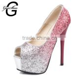 New 2016 Women Sexy Peep Toe Platform Thin High Heels Women Shoes Ladies Stylish High Heel Wedding Party Pumps Red