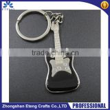 Fashion personalized metal guitar shaped keychain with logo,customized shaped metal keychain,heart shaped keychain