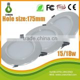 High quality downlight lamp good aluminum profile led ceiling light smd 15w luminous flux >1250 lumen led downlight