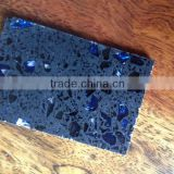 Artificial stone Silver Blue and black crystal Quartz Countertop table top