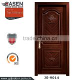 wholesale ebony veneer laminated solid wood restaurant entrance doors