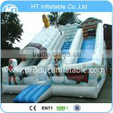 Snow Giant Inflatable Slide For Festival,White Promotional Inflatable Slide,Inflatable Bouncer slide