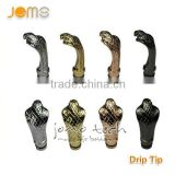 2013 JOMO Best -Selling Brass Skull Drip Tips 510 Wholesale strip sake/bull/dragon/cowboy/cobra 8 styles