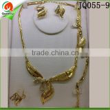 wholesale fashion jewelry necklace set jewelry gold plated jewelry set from dubai JQ055-9