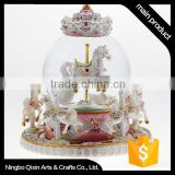 Decorative Snow Water Globe, Carousel Snow Globe, Rocking Horse Snow Globe                                                                         Quality Choice