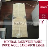 best price rock wool sandwich panel/waterproofing pu roof sandwich panels/eps concrete sandwich wall panel